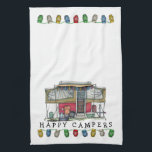 "Cute RV Vintage Popup Camper Travel Trailer Towel<br><div class=""desc"">Memories of camping last a lifetime! And so do those memories of your pop up camper. These whimsical pop up camper kitchen towels are as cute as they can be:) This popup vintage camping trailer was designed by artist Richard Neuman. His uniquely styled vintage trailers artwork is collected worldwide. You...</div>"