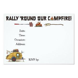 Cute RV Vintage Teardrop  Camper Travel Trailer 5x7 Paper Invitation Card