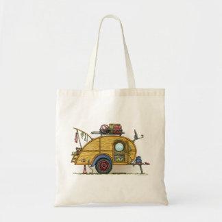 Cute RV Vintage Teardrop  Camper Travel Trailer Bag