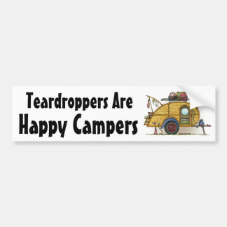 Cute RV Vintage Teardrop  Camper Travel Trailer Bumper Sticker