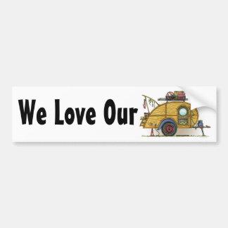 Cute RV Vintage Teardrop  Camper Travel Trailer Bumper Sticker