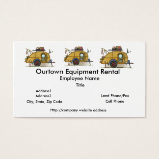 Cute RV Vintage Teardrop  Camper Travel Trailer Business Card