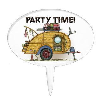 Cute RV Vintage Teardrop  Camper Travel Trailer Cake Topper