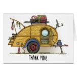 Cute RV Vintage Teardrop  Camper Travel Trailer Cards