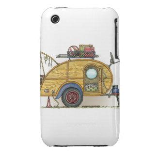 Cute RV Vintage Teardrop  Camper Travel Trailer Case-Mate iPhone 3 Cases