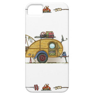 Cute RV Vintage Teardrop  Camper Travel Trailer Case For iPhone 5/5S