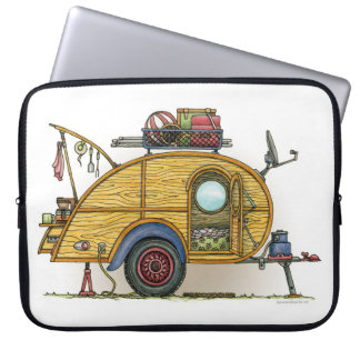 Cute RV Vintage Teardrop  Camper Travel Trailer Computer Sleeve