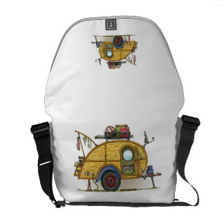 Cute RV Vintage Teardrop  Camper Travel Trailer Courier Bags