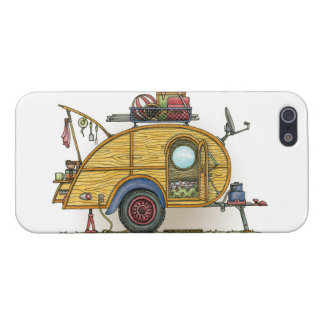 Cute RV Vintage Teardrop  Camper Travel Trailer Cover For iPhone SE/5/5s