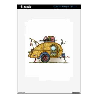 Cute RV Vintage Teardrop  Camper Travel Trailer Decal For iPad 3