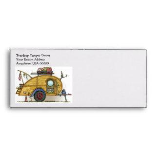 Cute RV Vintage Teardrop  Camper Travel Trailer Envelopes