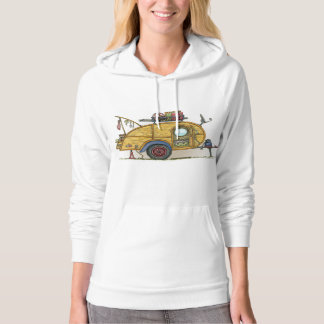 Cute RV Vintage Teardrop  Camper Travel Trailer Hoodie