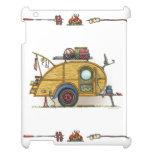 Cute RV Vintage Teardrop  Camper Travel Trailer iPad Cover