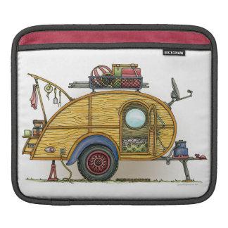 Cute RV Vintage Teardrop  Camper Travel Trailer iPad Sleeve