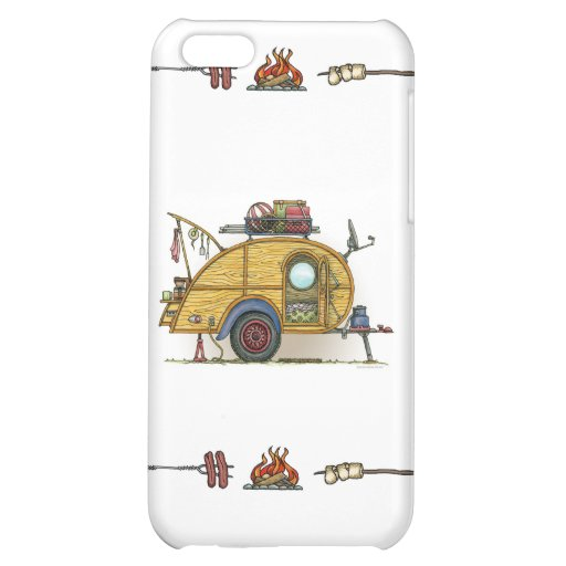 Cute RV Vintage Teardrop  Camper Travel Trailer Cover For iPhone 5C