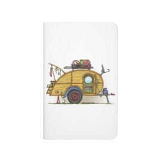 Cute RV Vintage Teardrop  Camper Travel Trailer Journal