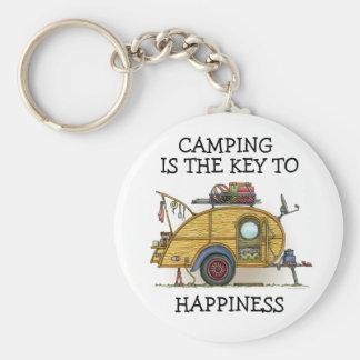 Cute RV Vintage Teardrop  Camper Travel Trailer Keychain