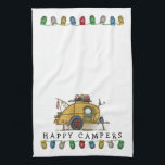 "Cute RV Vintage Teardrop  Camper Travel Trailer Kitchen Towel<br><div class=""desc"">Memories of camping last a lifetime! And so do those memories of your teardrop camper. These whimsical teardrop camper kitchen towels are as cute as they can be:) This teardrop vintage camping trailer was designed by artist Richard Neuman. His uniquely styled vintage trailers artwork is collected worldwide. You will find...</div>"
