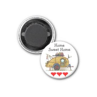 Cute RV Vintage Teardrop  Camper Travel Trailer Magnet