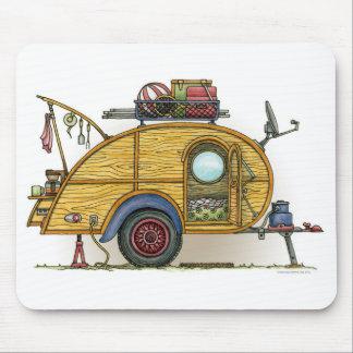 Cute RV Vintage Teardrop  Camper Travel Trailer Mouse Pad