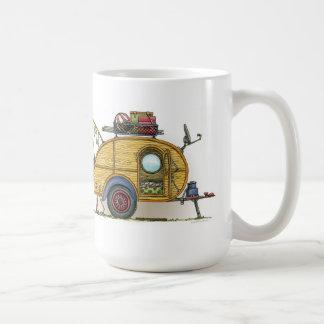 Cute RV Vintage Teardrop  Camper Travel Trailer Classic White Coffee Mug