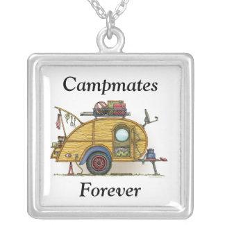 Cute RV Vintage Teardrop  Camper Travel Trailer Pendant