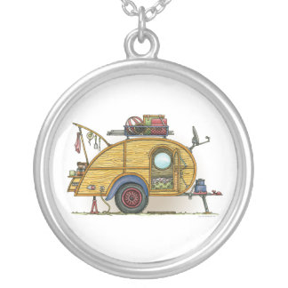 Cute RV Vintage Teardrop  Camper Travel Trailer Custom Jewelry