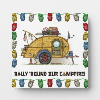 Cute RV Vintage Teardrop  Camper Travel Trailer Plaque