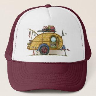 Cute RV Vintage Teardrop  Camper Travel Trailer Trucker Hat