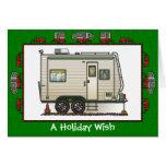 Cute RV Vintage Toy Hauler Camper Trailer Cards