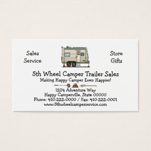 Keychain business cards templates zazzle cute rv vintage toy hauler camper travel trailer business card colourmoves
