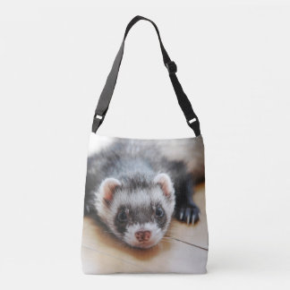Cute Sable Ferret Crossbody Bag