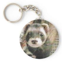 Cute Sable Ferret Keychain