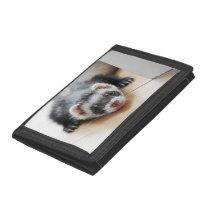 Cute Sable Ferret Tri-fold Wallet