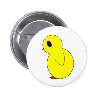 Cute Sad Chick Easter Button