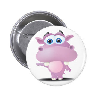 cute sad little hippo pins