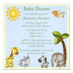 Cute Safari Animals Baby Shower Card