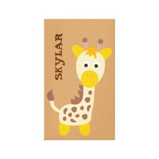 Cute Safari Animals Stretched Canvas Prints