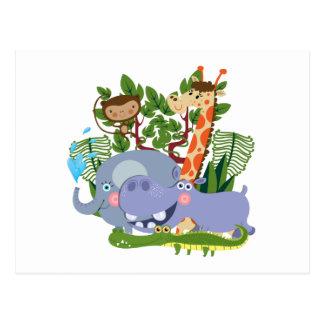 Cute Safari Animals Postcards