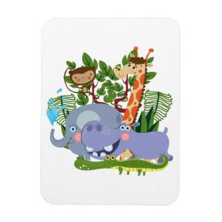 Cute Safari Animals Rectangle Magnets