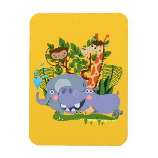 Cute Safari Animals Vinyl Magnet