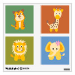 Cute Safari Animals Set of Wall Decals