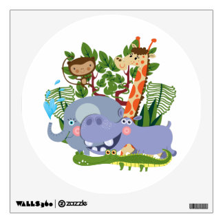 Cute Safari Animals Room Stickers