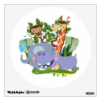 Cute Safari Animals Room Graphics
