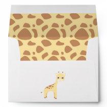 Cute Safari Birthday Envelope