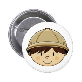 Cute Safari Boy Badge Button