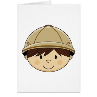Cute Safari Boy Card
