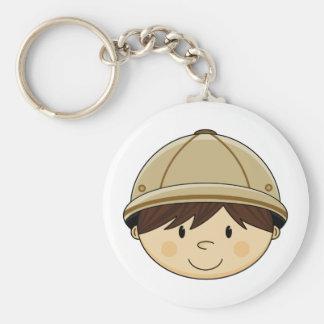 Cute Safari Boy Keychain