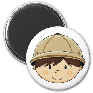 Cute Safari Boy Magnet Fridge Magnet