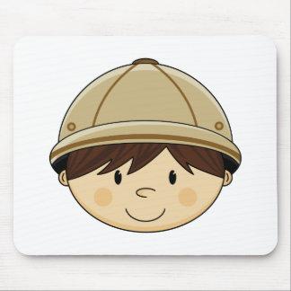 Cute Safari Boy Mousepad